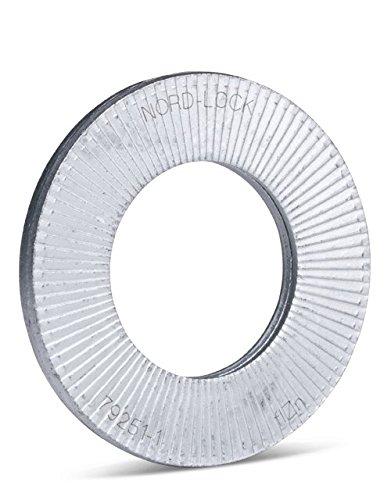 Nord-Lock Keilsicherungsscheiben NL10sp fü r M10 (10 Stü ck) aus Stahl, mit vergrö ß ertem Auß endurchmesser