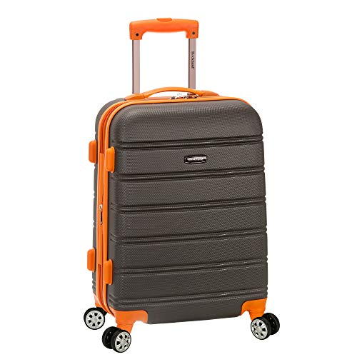 Rockland Melbourne 20' Expandable Abs Carry On, Charcoal