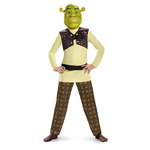 Shrek Classic Costume, Medium (7-8) - Kids Shrek Costumes