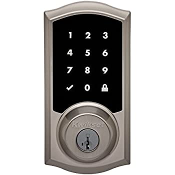 Kwikset Premis Touchscreen Smart Lock, Works with Apple HomeKit, in Satin Nickel