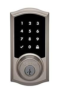 Kwikset Premis Touchscreen Smart Lock, Works with Apple HomeKit, in Satin Nickel