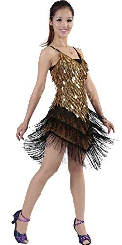34b638c0f Astage Women`s Sequins Gowns Ballroom Salsa Samba Rumba Tango Latin Dance  Dress