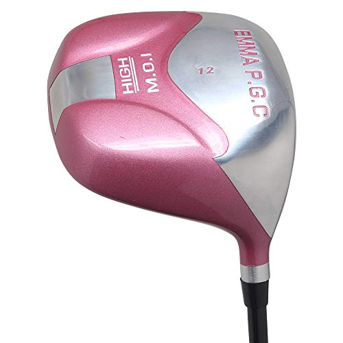 Petite Senior Women's All Pink PGC High MOI 12° Driver Right Handed Premium Ultra Forgiving Senior Ladies Flex Graphite Shaft Tour Pink Velvet Grip (Petite - 4'10'' to 5'3