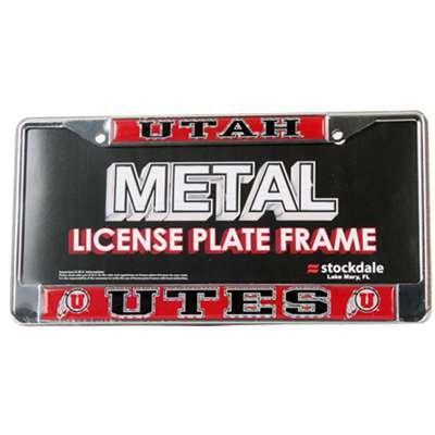 Stockdale Utah Utes Metal License Plate Frame W/Domed Insert