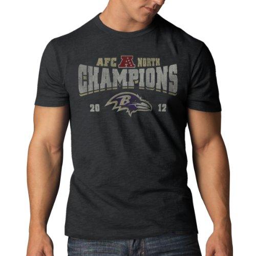(NFL Baltimore Ravens Men's 2012 AFC North Football Champions Scrum Tee, Charcoal, Medium)