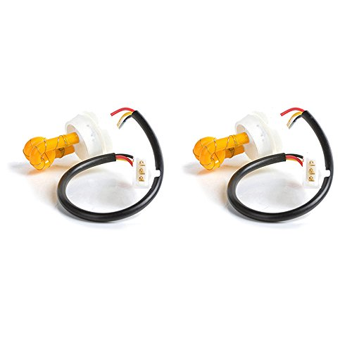 Xprite 2pc Yellow(Amber) Hide Away Strobe Tube for 80w / 120w / 160w Kits Headlight Replacement Bulbs