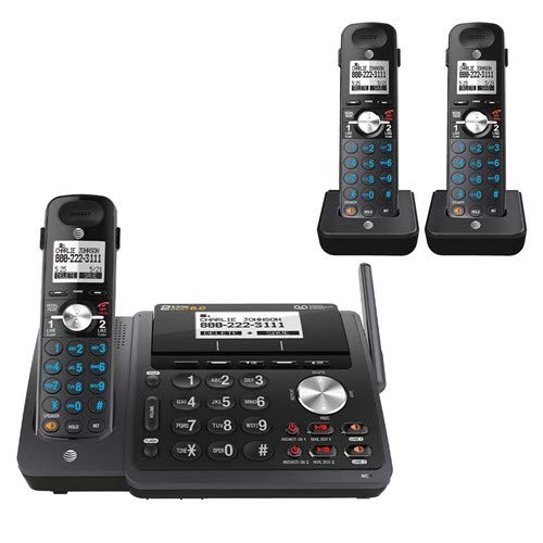 AT&T TL88102 2-line answering System with 2 Handsets (Black)