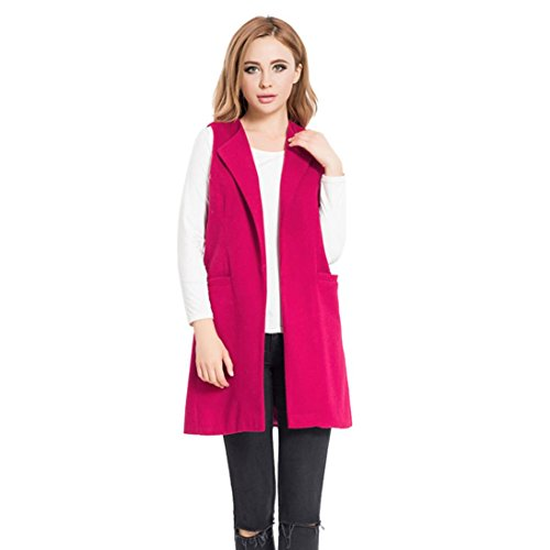 Parka Gilet Hemd Blouse Haut hiver Femme Rose Veste Cardigan Sexy et Manches Jacket Outwear Business Elegant Reaso Mode Tunique Vif Chemise Automne Casual Solide Manteau Sans Chic Pullover 7w54xSqd1
