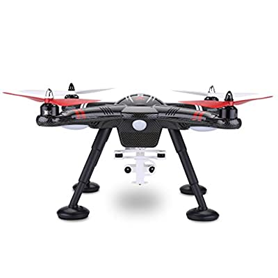 WLtoys X380 RC Quadcopter Drone 2.4G 4CH Headless Mode One Key Return GPS with Camera Shock Absorption - Black from General