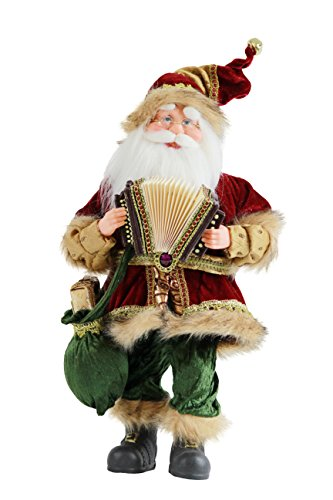"16"" Inch Standing Animated Musical Dancing Accordion Santa Claus Christmas Figurine Figure Decoration M51805"