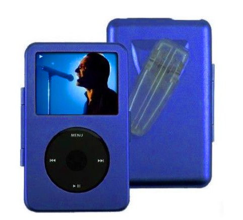 Blue For Apple iPod Video 5g 5th gen 60GB 80GB Metal Hard Case