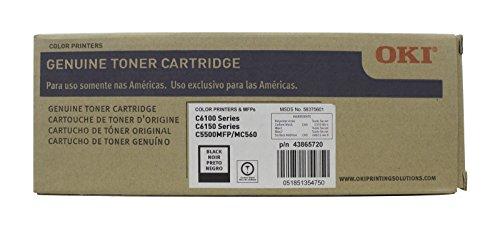OKI C6100 & C6150 SERIES BLACK TONER CARTRIDGE, P/N 43865720