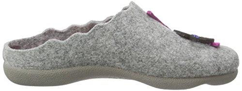 Manitu 320429 Damen Pantoffeln Grau (Grau)