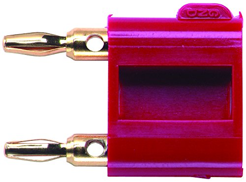 2035-2 - Double Miniature Banana Plug w/ Shorting Bar, 5A, Red (2035-2) (Pack of 5)