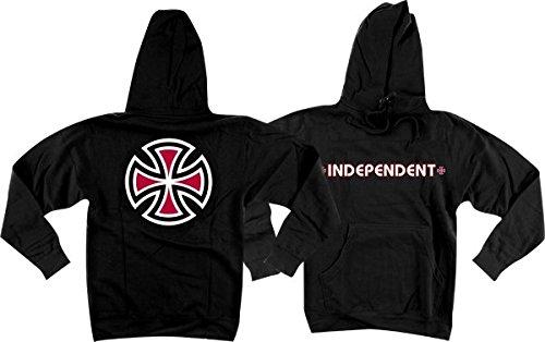 Independent Bar Cross Hoody Sweater Large Black