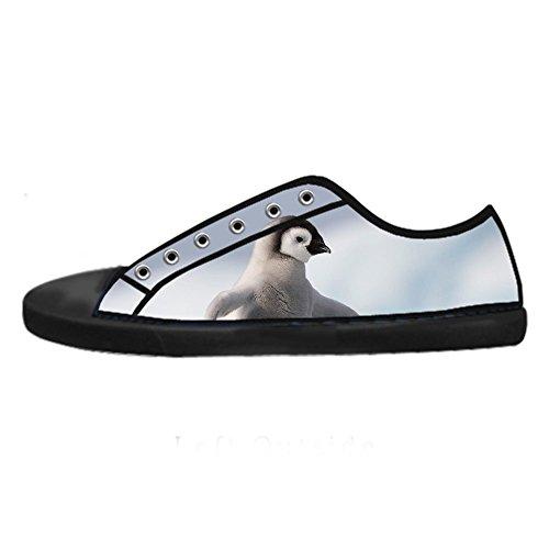 Custom Pinguino Mens Canvas shoes I lacci delle scarpe in Alto sopra le scarpe da ginnastica di scarpe scarpe di Tela.