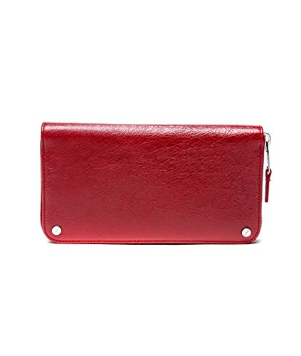 Wiberlux Balenciaga Women's Long Zip Around Real Leather Wallet