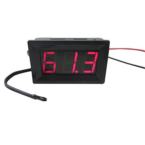 50-220F Fahrenheit Temperature Temp Probe Red DIGITEN DC 12V LED Digital Thermometer