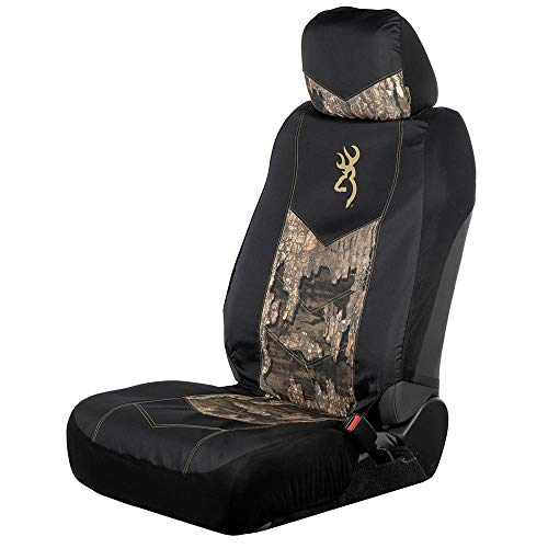 Browning Chevron Low Back Seat Cover | Black/Realtree Timber | Single