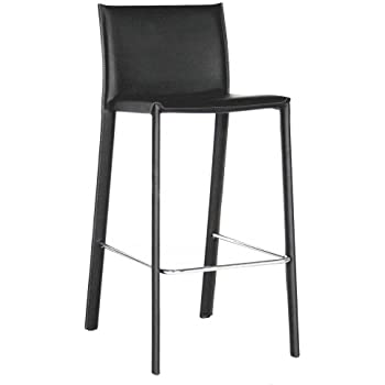 Amazon Com Baxton Studio Elana Leather Counter Stools