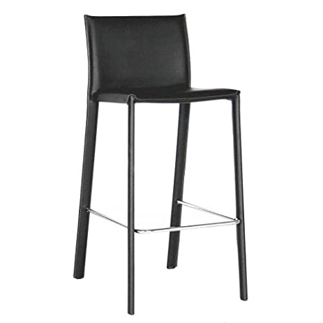 Baxton Studio Elana Leather Counter Stools Black Set of 2  sc 1 st  Amazon.com & Amazon.com: Baxton Studio Elana Leather Counter Stools Black Set ... islam-shia.org