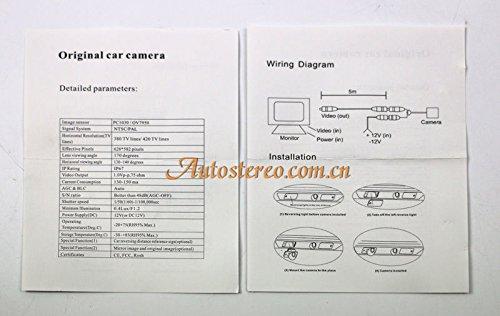 autostereo voiture cam/éra de recul pour VW Volkswagen Polo Passat B6/vue arri/ère de stationnement Camer