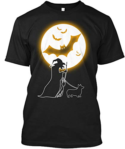 Corgi Halloween Costumes M - Black Tshirt - Hanes Tagless Tee