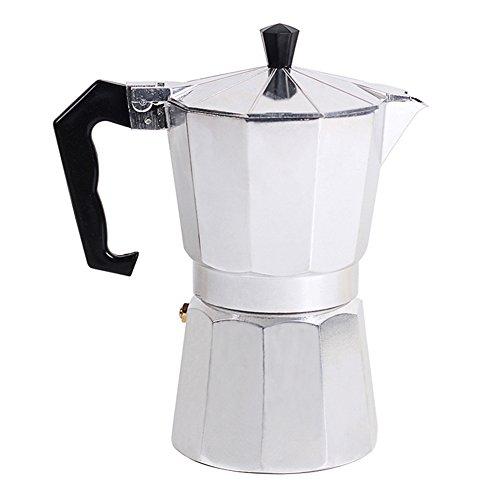 Awhao Stovetop Espresso Maker Italian Type Octagonal Household Aluminum Espresso Percolator Maker (50ML)