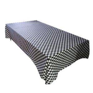 ArtOFabric Decorative Cotton Tablecloth in Checkerboard Prin