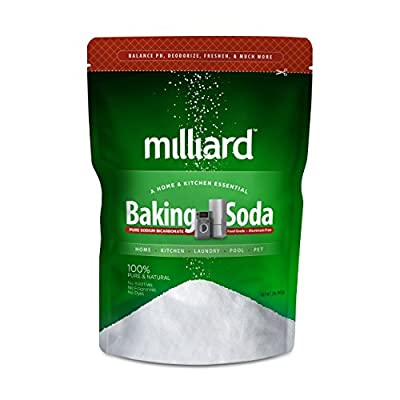 Baking Soda / Sodium Bicarbonate USP - 2 Pound Bulk Resealable Bag by Milliard