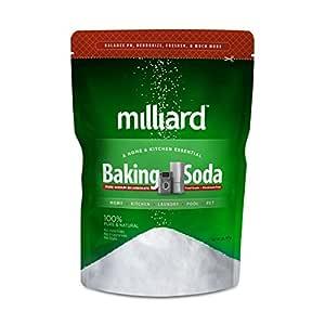 Milliard 2lbs Baking Soda / Sodium Bicarbonate USP - 2 Pound Bulk Resealable Bag