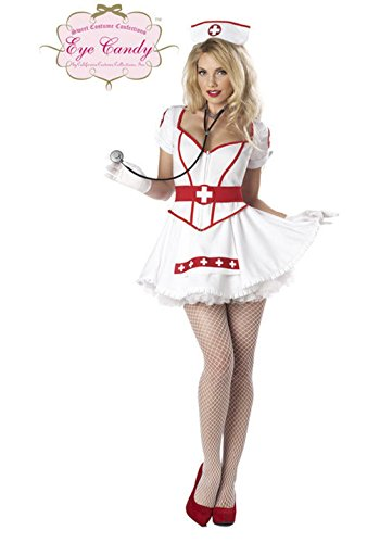 [Mememall Fashion Sexy Women Nurse Heart Breaker Doctor Adult Costume] (40s Nurse Costume)