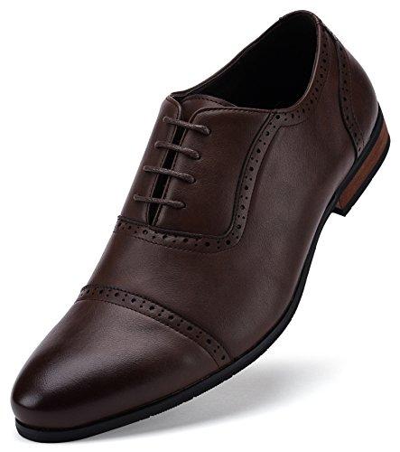 Captoe Design Oxford Shoe Chocolate Brown US-8.5D(M) | UK-41-42 | EU-8 by Gallery Seven (Image #1)