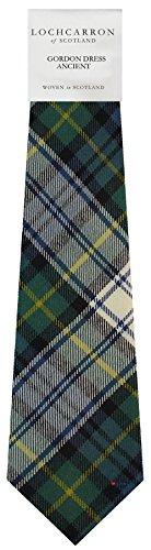 Clan Tie Gordon Dress Ancient Tartan Pure Wool Scottish Handmade Necktie