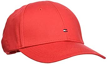 TOMMY HILFIGER Men's Classic Baseball Cap, Apple Red, One