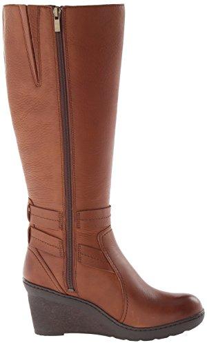 Clarks Womens Natira Kae GTX Wedge Boot Brown Leather pVuHLYPn
