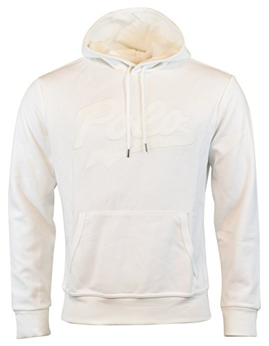- Polo Ralph Lauren Men's Double-Knit Pullover Logo Hoodie - M - White