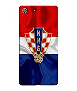 ColorKing Football Croatia 04 Multi Color shell case cover for Sony Xperia Z3
