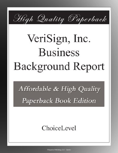 Verisign  Inc  Business Background Report
