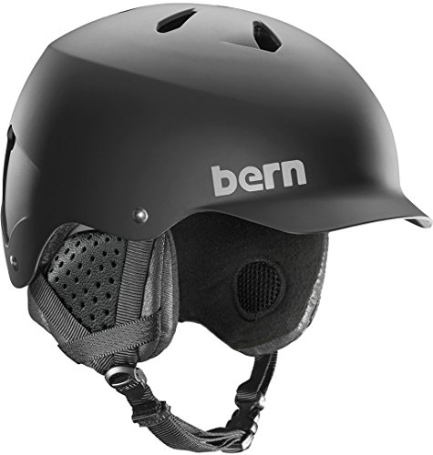Audio Snowboard Hard Hat (Bern Watts MIPS Helmet - Matte Black/Black Liner Small)
