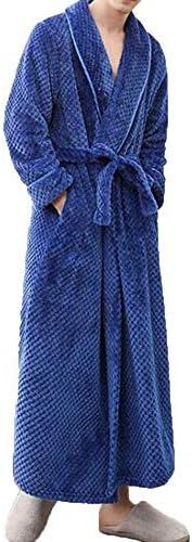 パジャマ CHJMJP パジャマメンズ秋と冬の厚いフランネルナイトガウンベルトバスローブバスローブ (Color : 02, Size : M)