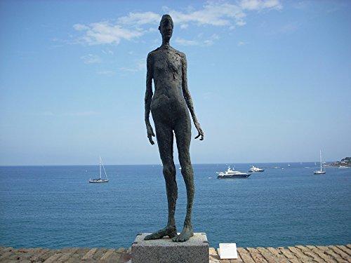 Home Comforts Canvas Print Côte D'azur Museum Statue Sea Blue Antibes Stretched Canvas 32 x 24