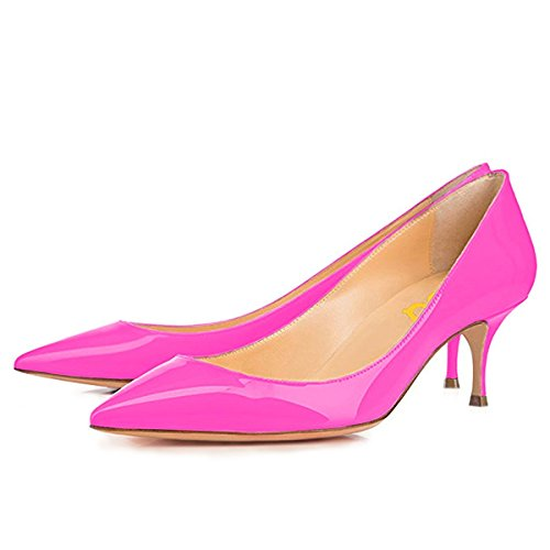 15 Pumps Women's Pointy Pink Mid Shoes Size High Heels Kitten FSJ Floral Toe Print 4 AfqTFxnOw