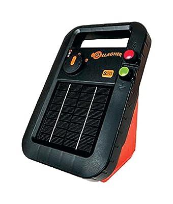 Gallagher G341424 S20 Solar Fence Energizer, Black/orange, 6 Volts