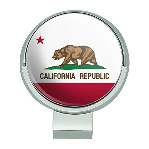 - GRAPHICS & MORE California Republic State Flag Golf Hat Clip with Magnetic Ball Marker