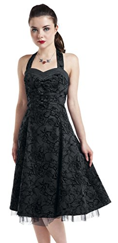 H&R London Vestido Long Tattoo Vestido Negro Negro