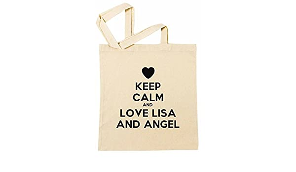 Keep Calm And Love Lisa And Angel Bolsa De Compras Playa De ...