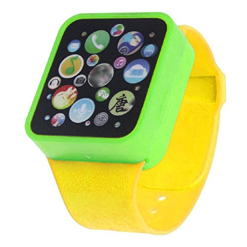 Naladoo Child Kids Toy Educational Smart Wrist Watch Learning Touching Screen Games (Yellow)