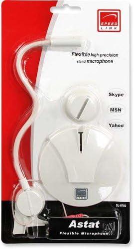 Speedlink Astat Stand Mikrofon rauschunterdr/ückend, flexibler Schwenghals, zus/ätzliche Monitorbefestigung, 3,5mm Klinke