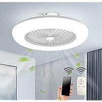 LED Verstelbare ventilator aan het plafond met verlichting 36W plafondlamp Dimbaar met controle-3-speed windsnelheid…